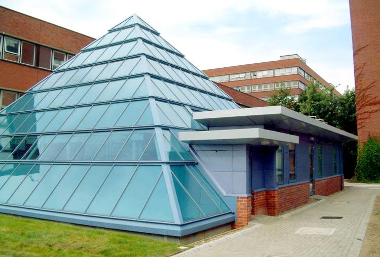 Sir Joseph Hotung Centre glass pyramid BBF Fielding architecture