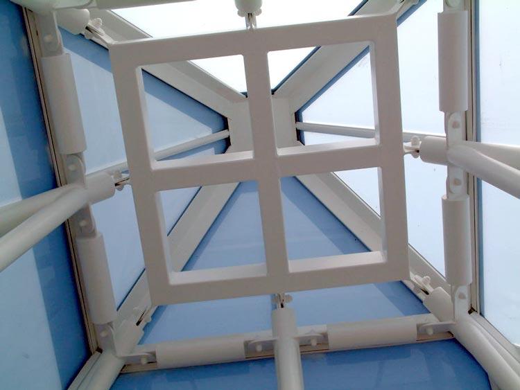 Sir Joseph Hotung Centre glass pyramid interior detail BBF Fielding architecture