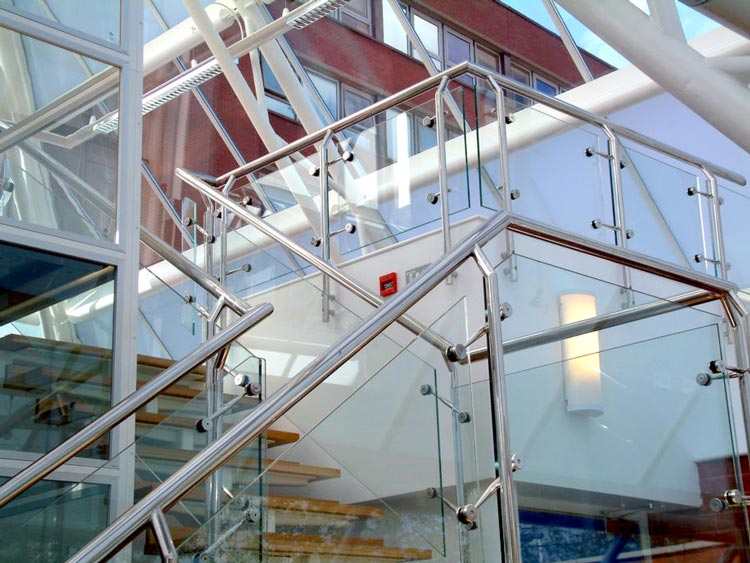 Sir Joseph Hotung Centre glass pyramid staircase detail BBF Fielding architecture