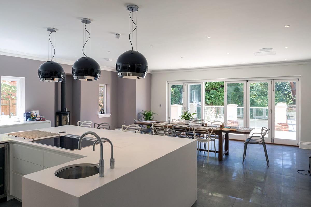 High-end open plan kitchen