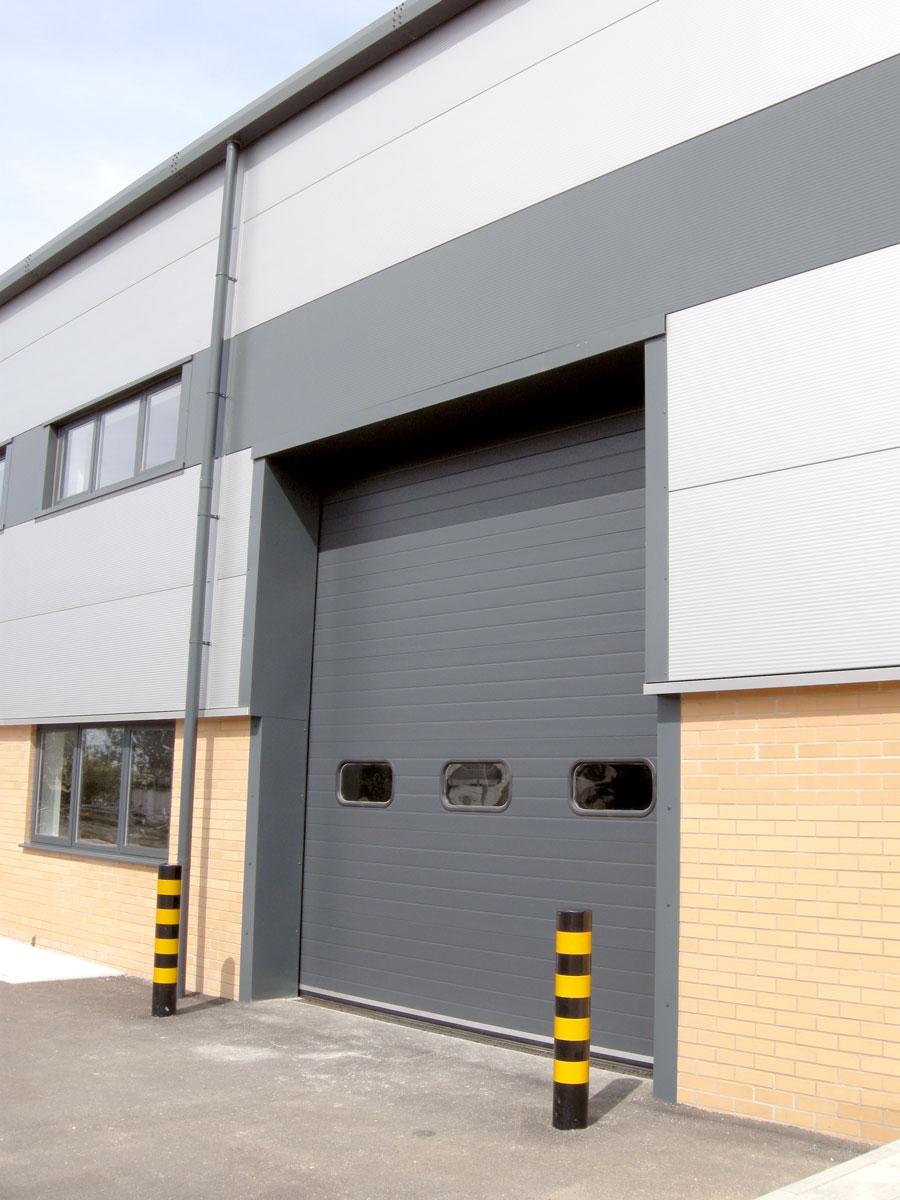 Dunsfold Park Commercial buildings - cargo door detail